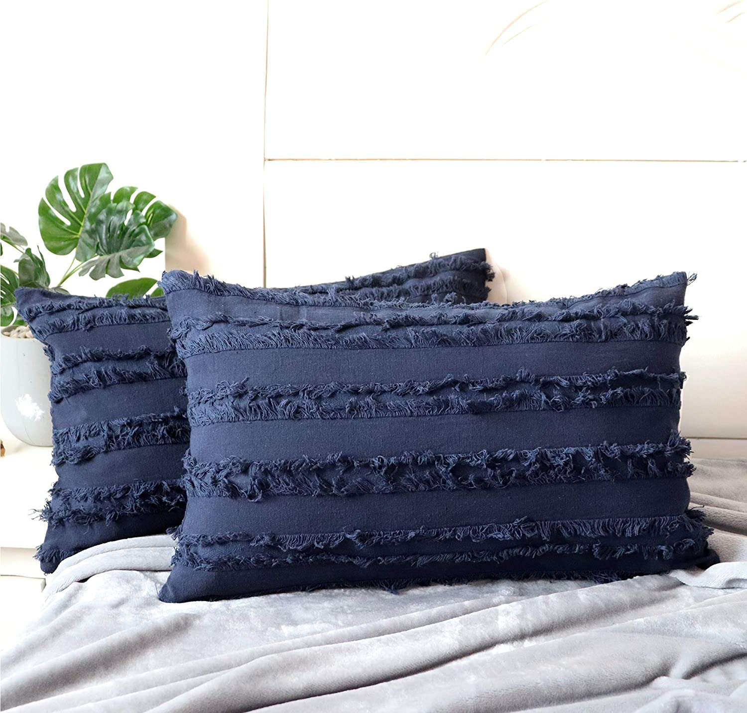 NAVIBULE Pack Max 58% OFF of 2 Soft Decorative Throw Covers Accent Co Regular store Pillow