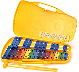 PYEONGCHANG 25 نت Glockenspiel Zylophone برای کودکان و سازهای کوبه ای بزرگسالان [ساخت کره]