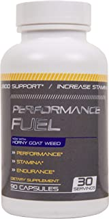 Performance Fuel Male Horny Goat Weed Capsules, 90 Count - Supports Stamina and Optimizes Healthy Test Levels & Performanc...