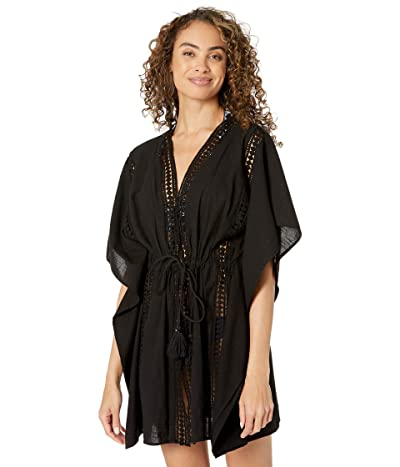 Bleu Rod Beattie India Bazaar Caftan Cover-Up (Black) Women