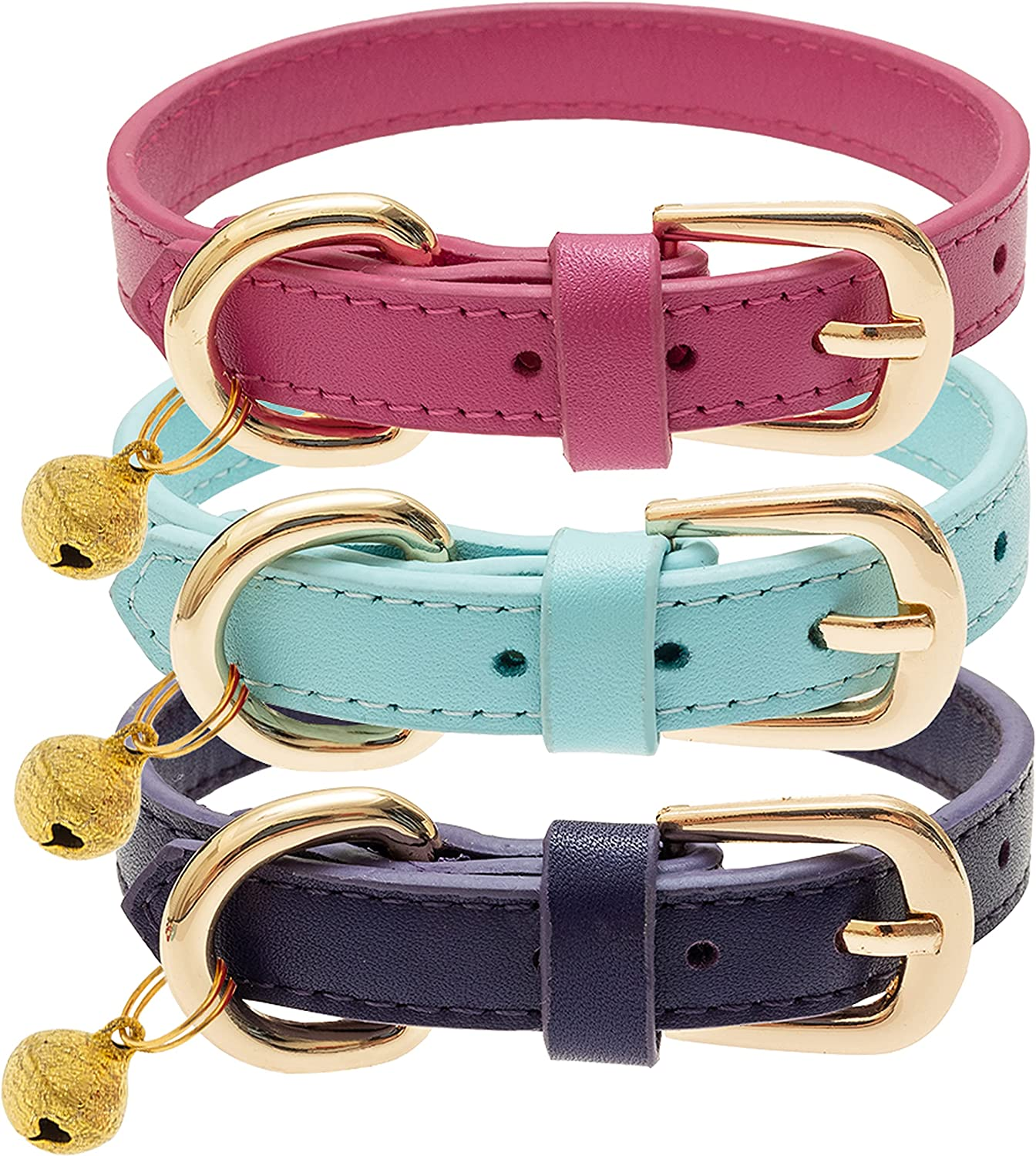 Free shipping on posting reviews FLYSTAR Cat Collar with Bell Leather Sale special price Adsjutable Soft