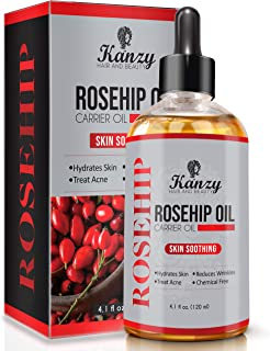 KANZY Organic Rosehip Oil Cold Pressed 120ml for Face 100%