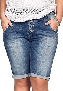 Women's Plus Size Bermuda Denim Shorts