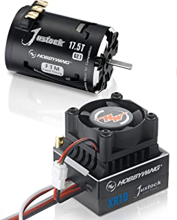 HOBBYWING XR10 JUSTOCK G2.1 Combo (XR10 Justock ESC + Justock G2.1FTM Motor), 1/10,1/12 Zero Timing Spec Racing, (Combo-JS5 G2.1 (XR10 Justock ESC + Justock 17.5T G2.1 Motor))
