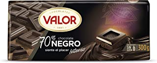 comprar comparacion Chocolates Valor - Chocolate negro de 70% cacao - 300 g - pack de 2
