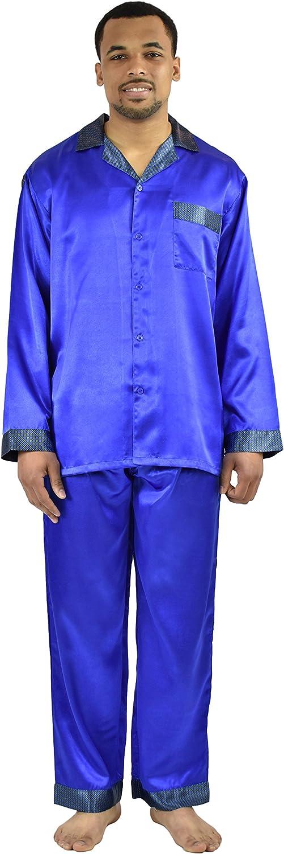Up2date Fashion Classic Men's Satin Pajamas/PJ Set