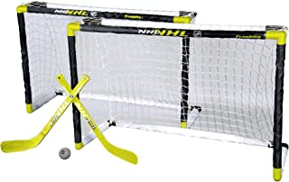 Franklin Sports Mini Hockey Goal Set - NHL - 2 Goals - 32 x 21 Inches