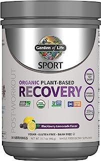 Garden of Life Sport Vegan Post Workout Muscle Recovery Powder for Men & Women - BlackBerry Lemonade 30 Servings, Organic ...