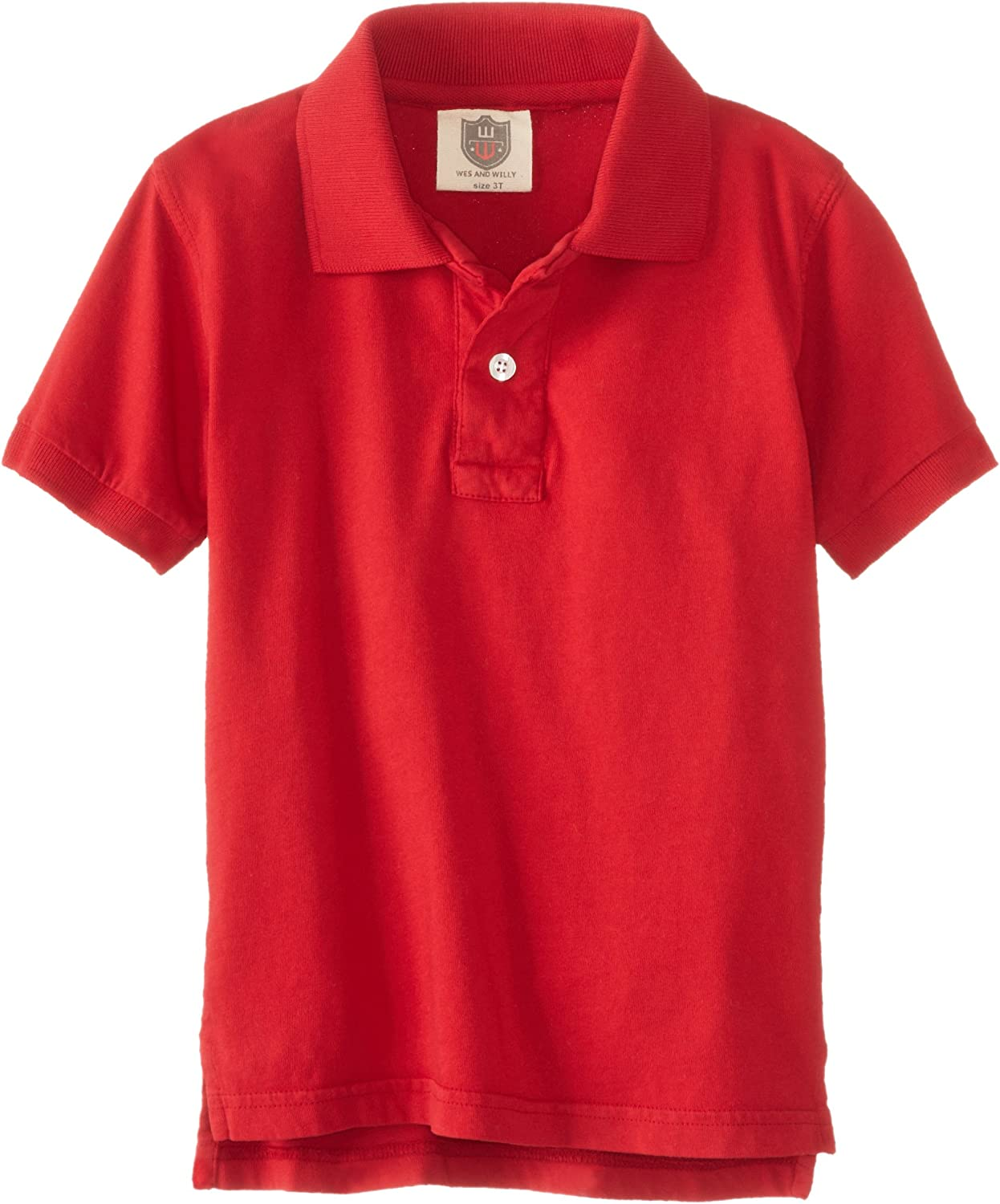 Wes & Willy Little Boys' Short Sleeve Jersey Polo Toddler