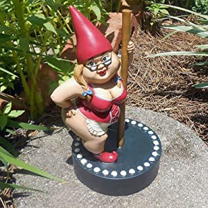 Pole Dance Garden Gnome, Gardening Gnome Garden Decor, Garden Accessories Collectible Figurines, Gnome Figurines for Indoor Outdoor Home Yard Ornaments (A)