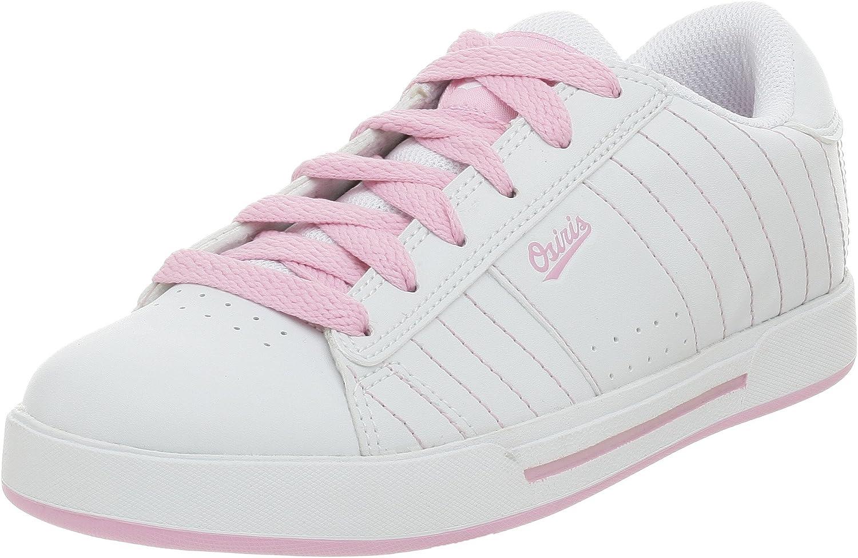 Osiris Little Kid/Big Kid Serve Sneaker,White/Pink/Baseball,5 M US Big Kid