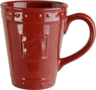 Signature Housewares Sorrento Collection Set of 4 Mugs, 14 Ounce, Ruby
