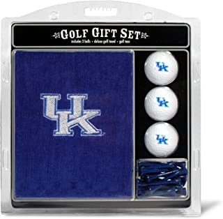 Team Golf NCAA Gift Set Embroidered Golf Towel, 3 Golf Balls, and 14 Golf Tees 2-3/4