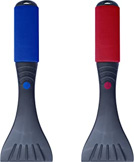 Premium Ice Scraper Set (2 Pack) Heavy-duty Frost and Snow Removal for Car Windshield and Window