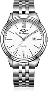 Rotary Mens Analogue Classic Quartz Watch with Stainless Steel Strap GB90194/01