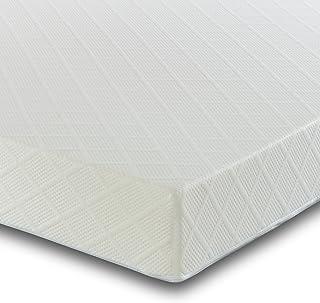 Visco terapi reflex skumrullad madrass med två kuddar – allergivänlig med ortopediskt stöd – fast komfort, dubbel