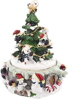 BestPysanky Penguins Decorating Spinning Christmas Tree Musical Figurine