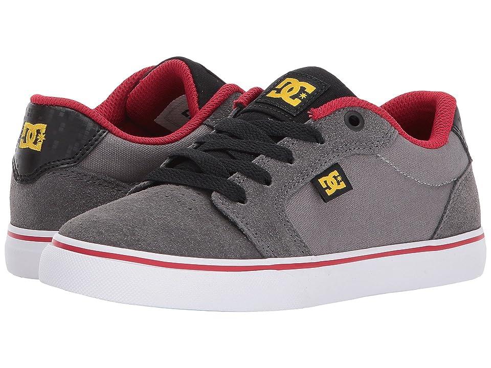 DC Kids Anvil (Little Kid/Big Kid) (Grey/Black/Red) Boys Shoes