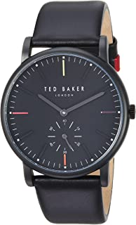 ec73f7fce0631 Ted Baker Men s  Nolan  Quartz Stainless Steel and Leather Casual Watch