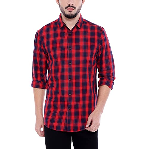 6b070a7b898 Red Check Shirt  Buy Red Check Shirt Online at Best Prices in India ...
