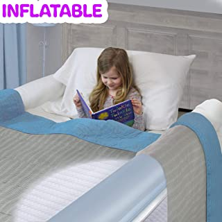 Inflatable Travel Bed Rails for Toddlers. Portable Bed Rail Bumper. Kids Safety Guard for Bed. Great for Home, Hotel, Travel. (2-Pack)
