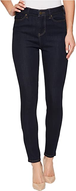 Bridget High Waist Ankle in Soft Silky Denim in Indigo Rinse