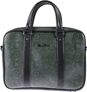 Robert Graham Mens Crown Point Faux Leather Paisley Messenger Briefcase