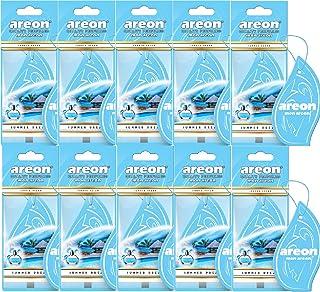 AREON Mon Auto Lufterfrischer Sommertraum Duft Anhänger Hängend Aufhängen Spiegel Blau Autoduft Pappe 2D Wohnung (Summer Dream Set Pack x 10)