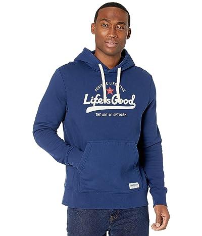 Life is Good Simply True Zip Hoodie (Darkest Blue) Men