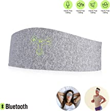 Bluetooth Headband Headphones,Caways Upgrade 4.2 Bluetooth Sleep Mask Sport Travel Breathable Cotton Washable Headbands,Equipped with Built-in Microphone for Calling,Suitable for Workout,Yoga,Jogging