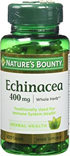 Nature's Bounty Natural Whole Herb Echinacea Capsules, 400 mg, 2 Count