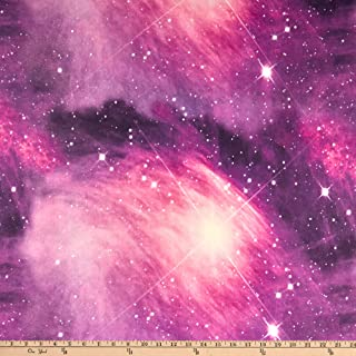 Fabric Merchants Double Brushed Poly Jersey Knit Galaxy Pink/Violet Fabric