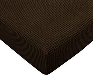 Subrtex Spandex Elastic Couch Stretch Durable Slipcover Furniture Protector Slip Cover for Settee Seat (Sofa Cushion, Chocolate)