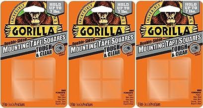Gorilla Tough & Clear Montage Tape (1 in. Breed, verkrijgbaar in meerdere lengtes Pack Of 3 Helder