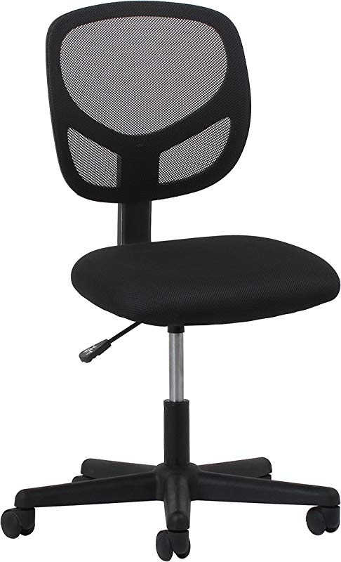 Essentials Swivel Armless Mid Back Mesh Task Chair Ergonomic Computer Office Chair ESS 3000