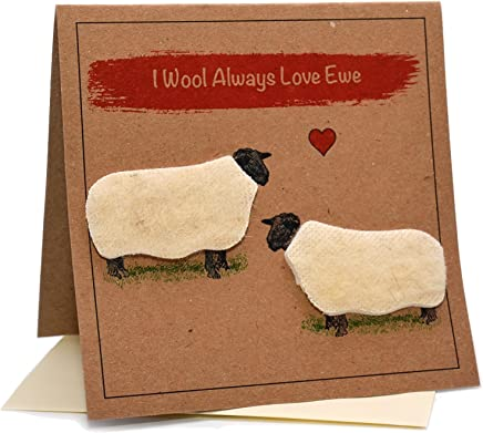 Lambacraft Sheep DesignEwe are The Best Dad Text Fathers Day//Birthday Greeting Card with Blank Inside1 Units