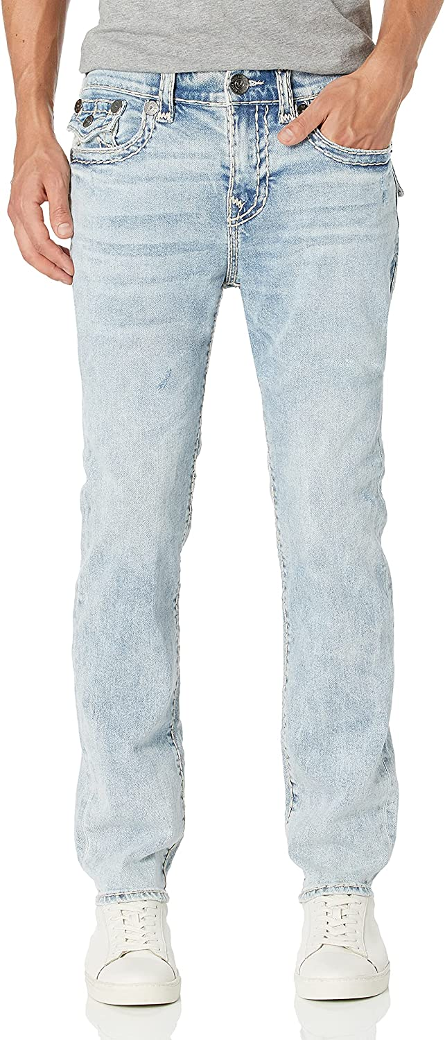 True Religion Men's Rocco Super T Jean Back Skinny Max 84% OFF Cheap mail order specialty store Flap Fit with