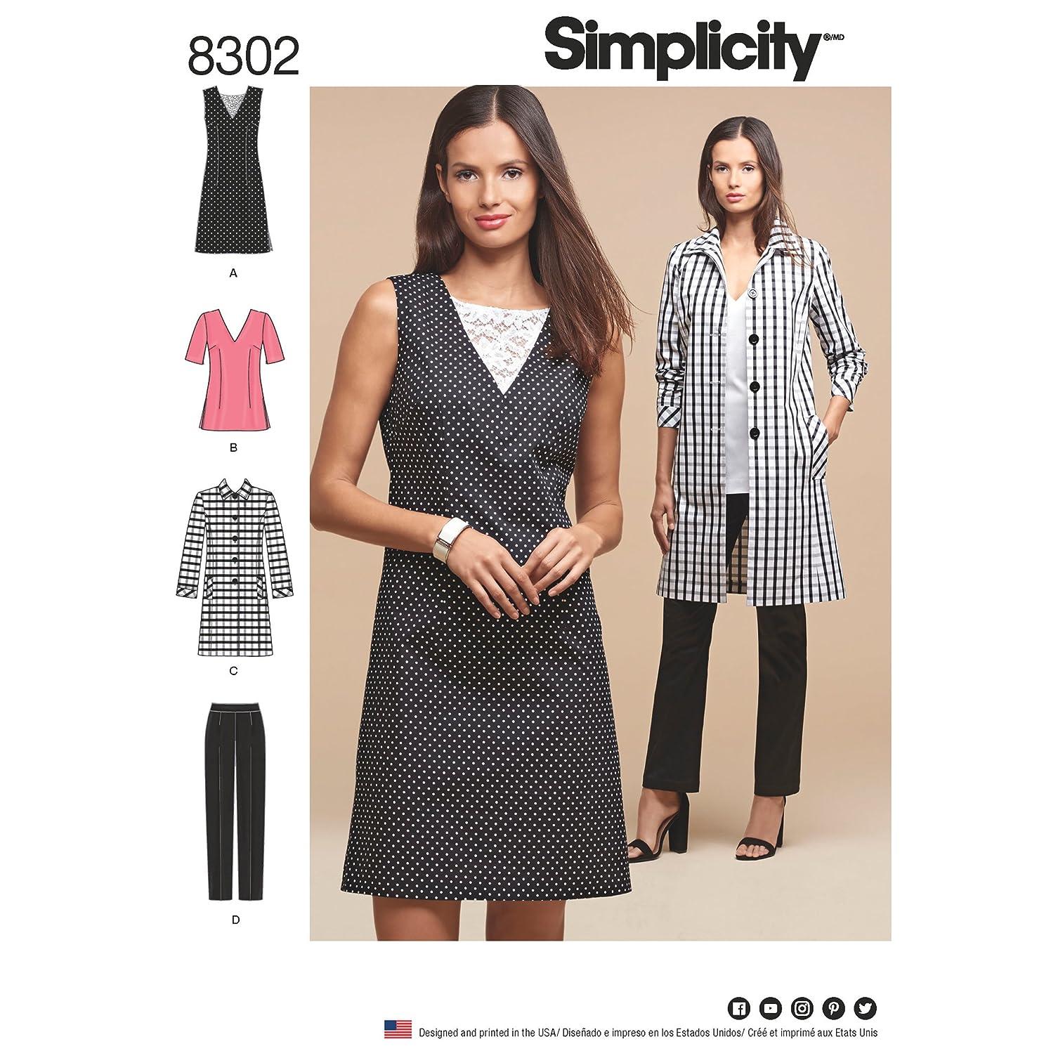 Simplicity Creative Patterns US8302BB Sewing Pattern Sportswear, BB (20W-28W)