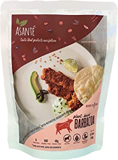 Asante Plant-Based Barbacoa - Vegetarian Food - Meatless, Vegan Alternative - Meat Substitute with Authentic Mexican Flavo...