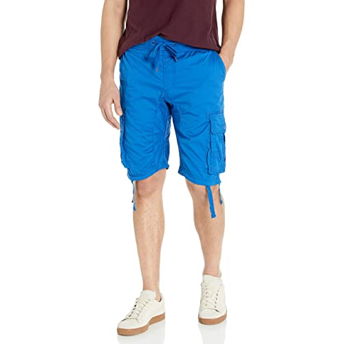 Southpole Mens Jogger Shorts with Cargo Pockets in Solid and Camo Colors Cargo Shorts