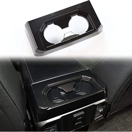 Voodonala for 2009-2014 Ford F150 Rear Air Conditioning Vent Outlet Trim ABS Black 1 pc