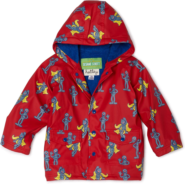 Hatley Sesame Street Little Boys' Grover Raincoat