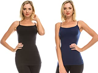 Kurve American Made Basic Seamless Cami, UV Protective Fabric UPF 50+ (Made with Love in The USA)