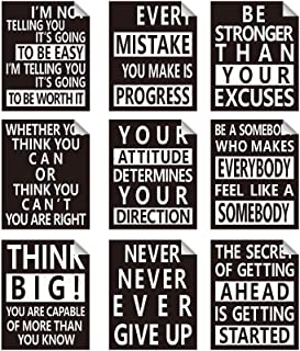 Zonon 9 Pieces Inspirational Wall Decals Spiritual Motivational Wall Stickers Positive Quotes Sayings Phrases Decals for L...