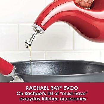 Rachael Ray Stoneware EVOO Dispensing Bottle, Sea Salt Gray