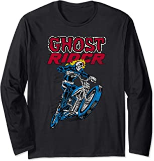 Marvel Ghost Rider Flames Manche Longue