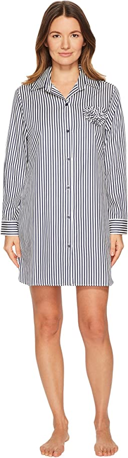 Kate Spade New York - Pinstripe Sateen Sleepshirt