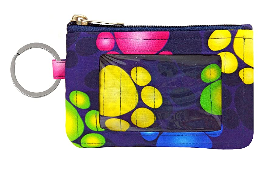 Zip ID Case/Key Wallet/Credit Card Case/Coins Purse with ID Window/Cute ID Holder/Badge Clips
