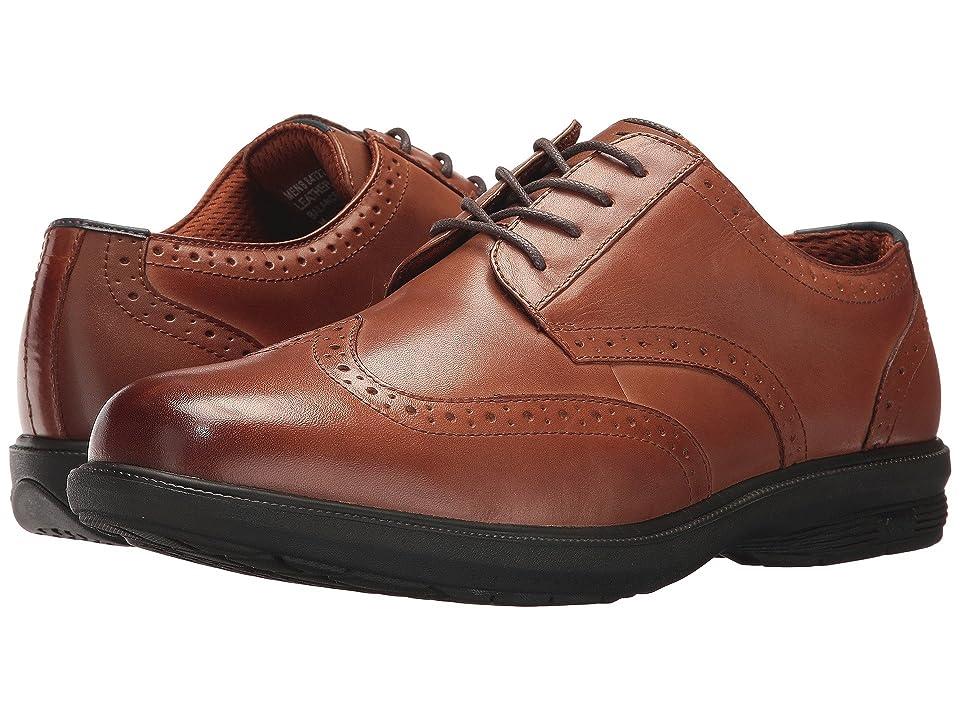 Nunn Bush Maclin Street Wing Tip Oxford with KORE Slip Resistant Walking Comfort Technology (Tan) Men
