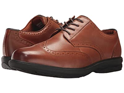Nunn Bush Maclin Street Wing Tip Oxford with KORE Slip Resistant Walking Comfort Technology (Tan) Men